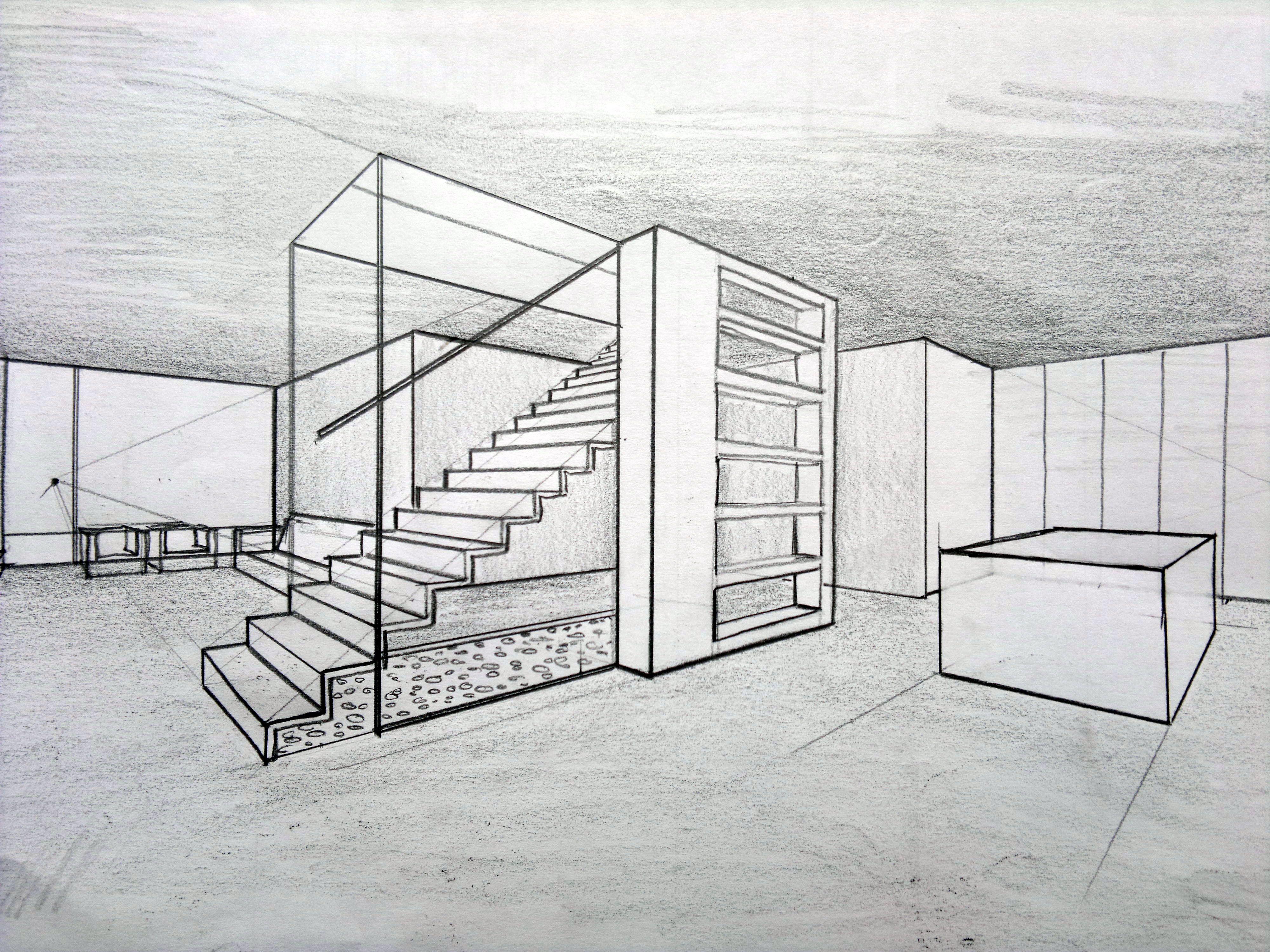 Escalera Moderna Bocetos Arquitectura Dibujo De Arquitectura Diseno Arquitectonico