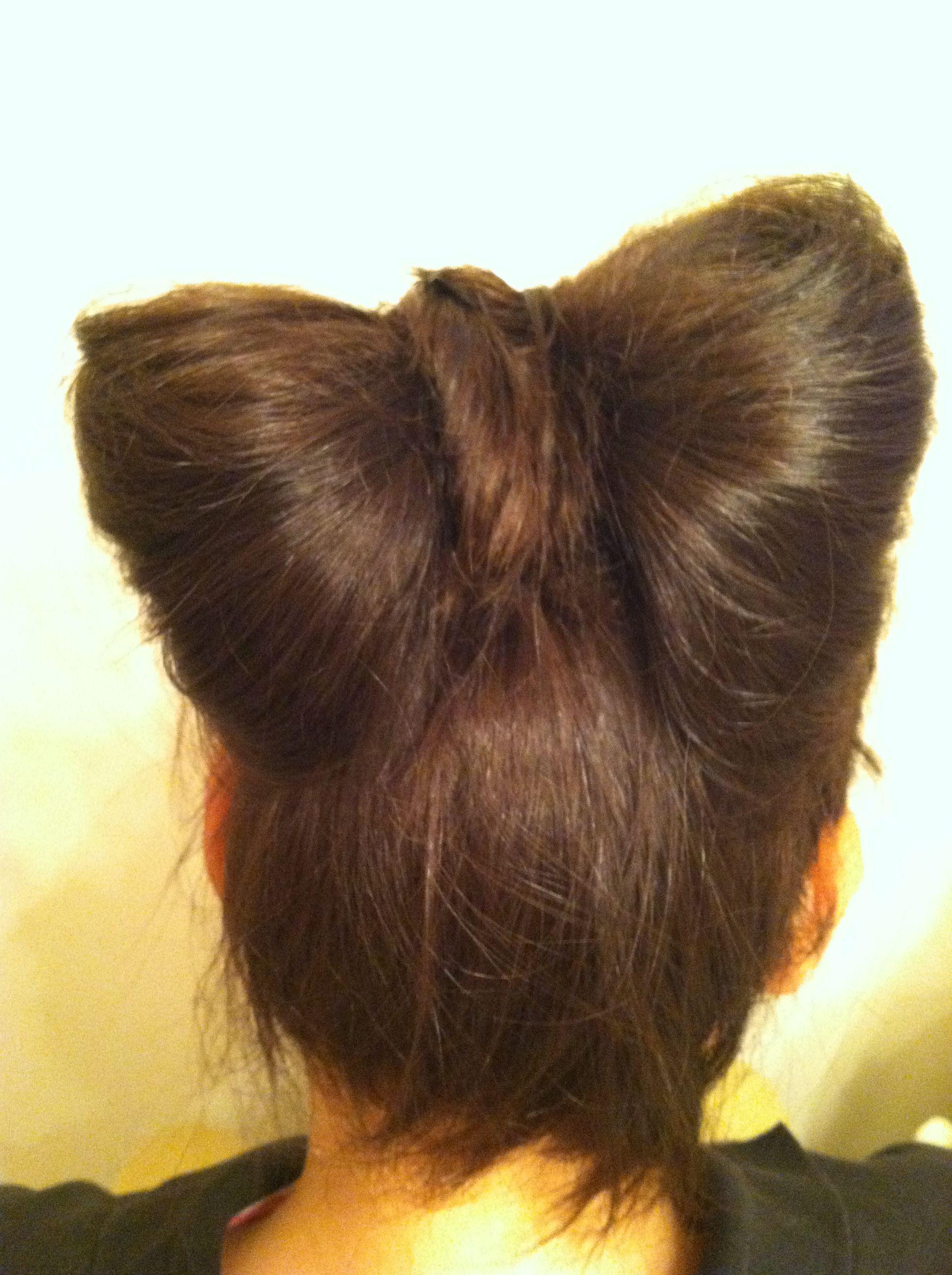 Hair bow hair style pinterest hair bow and hair style