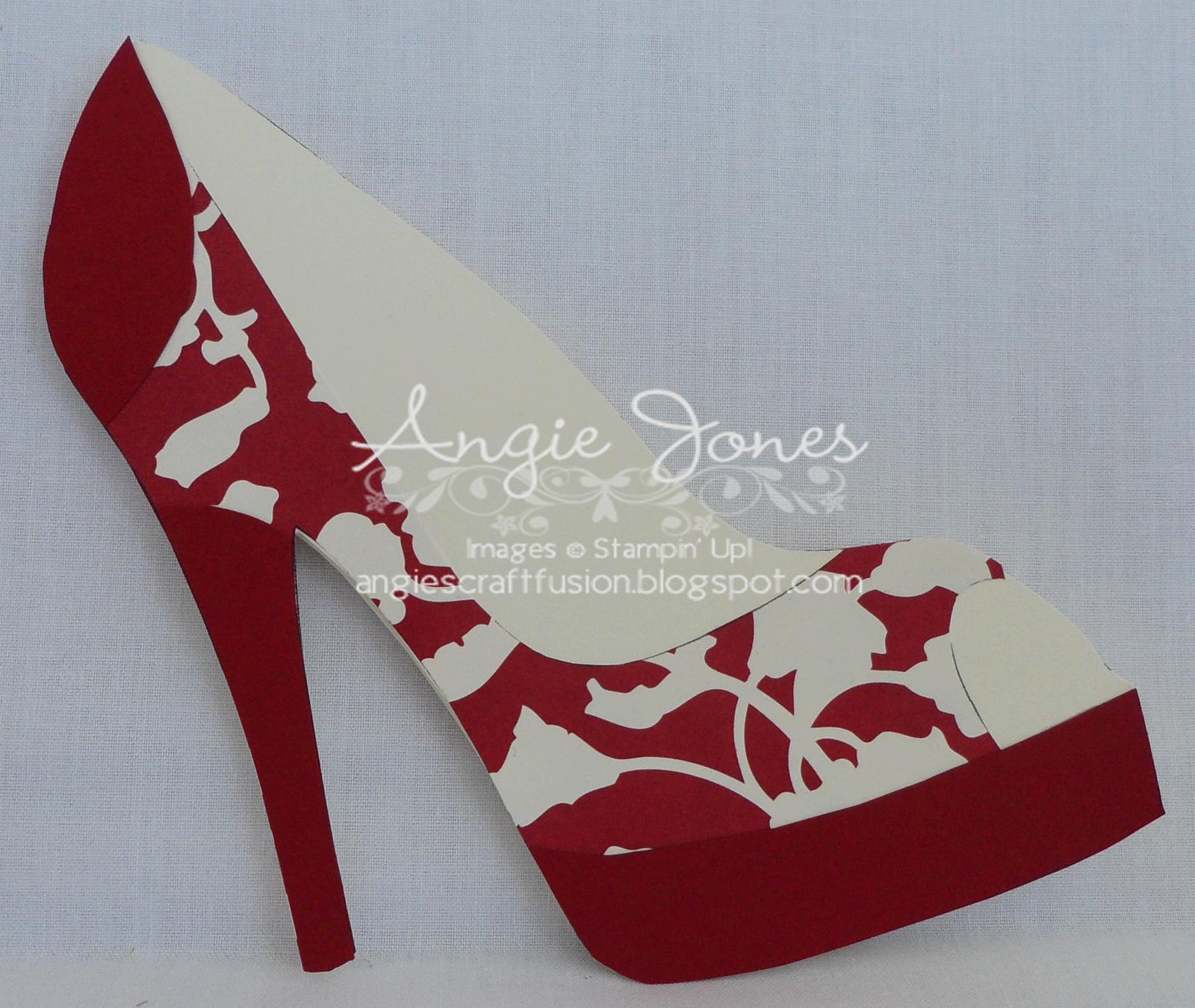 High Heel Shoe Card Gif 1600 1350 Paper Shoes Shoe Template Shaped Cards