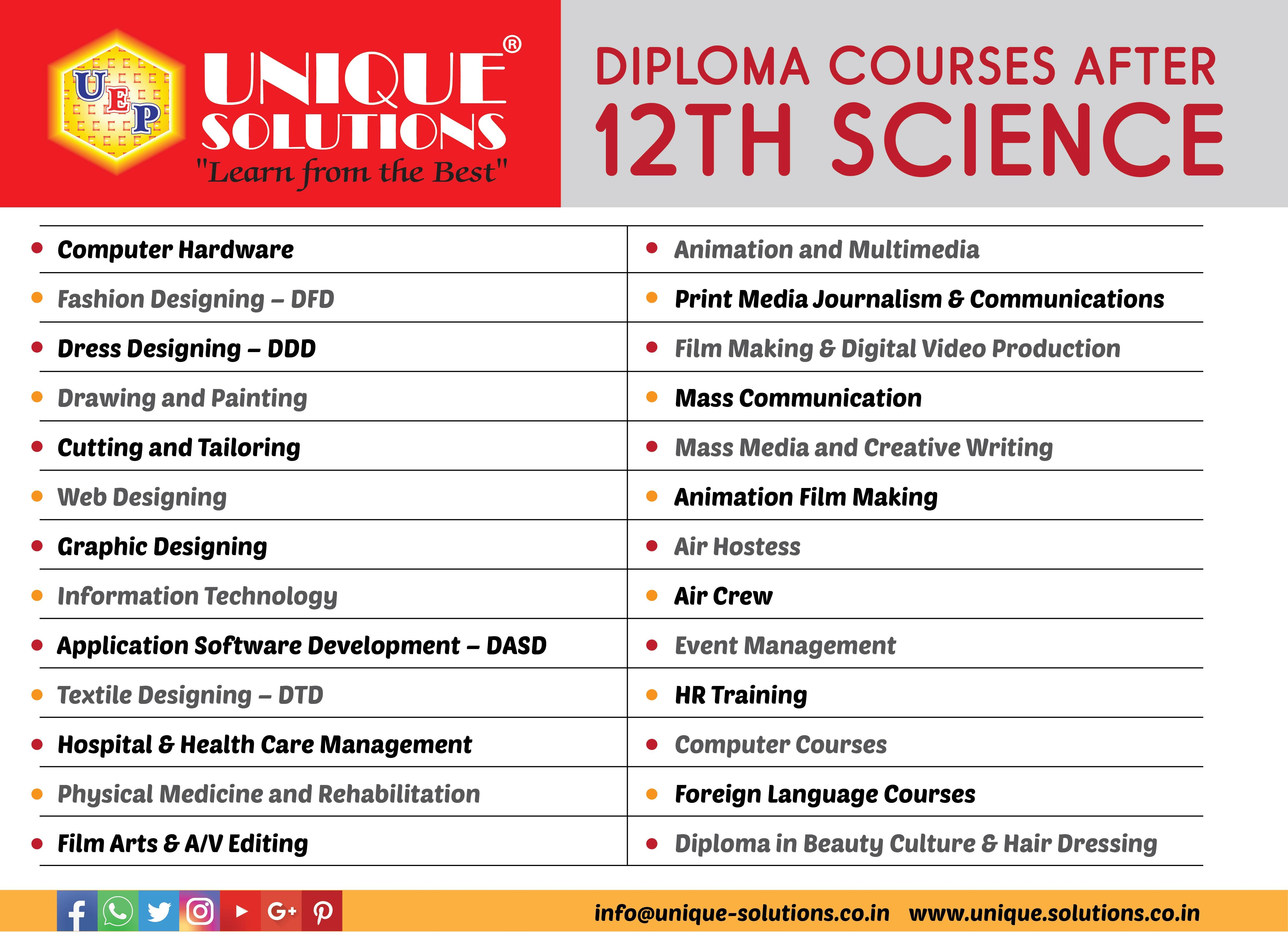 3rd June 2017 Uniquesolutions Pvt Ltd Learnfromthebest Diploma Courses After 12th Science Fun Learning Creative Writing Best Computer