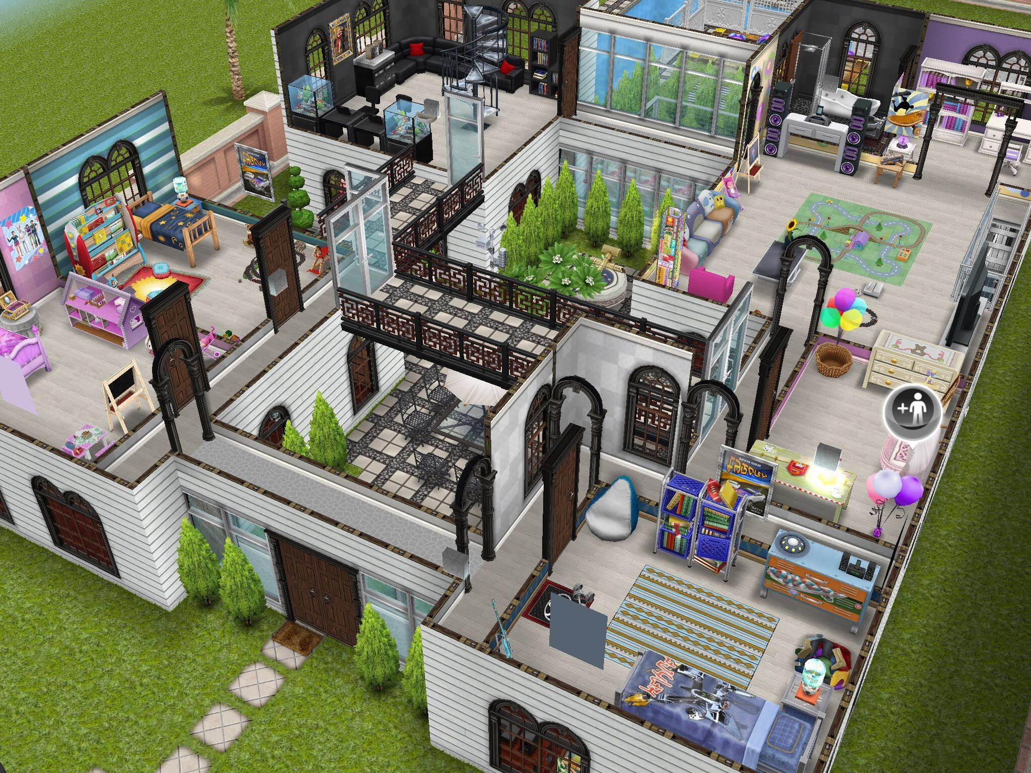Sims freeplay house design family mansion sims for Casa de diseno sims freeplay