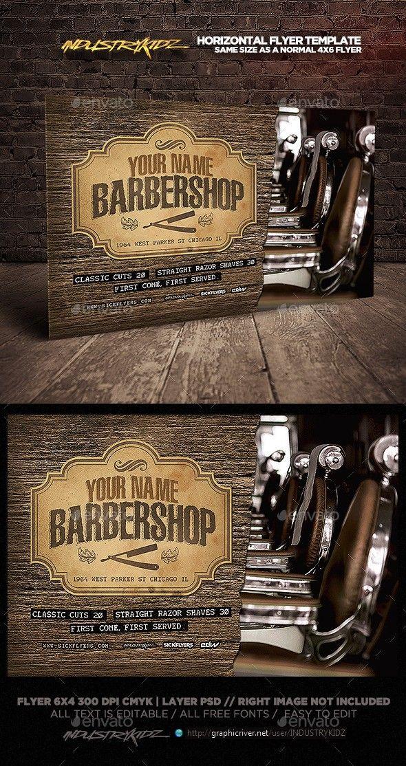 barbershop flyer template horizontal pinterest retro salon faded hair and salon salon