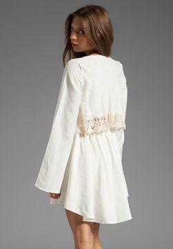 For Love & Lemons Luciana Long Sleeve Dress w/ Lace Detail on shopstyle.com
