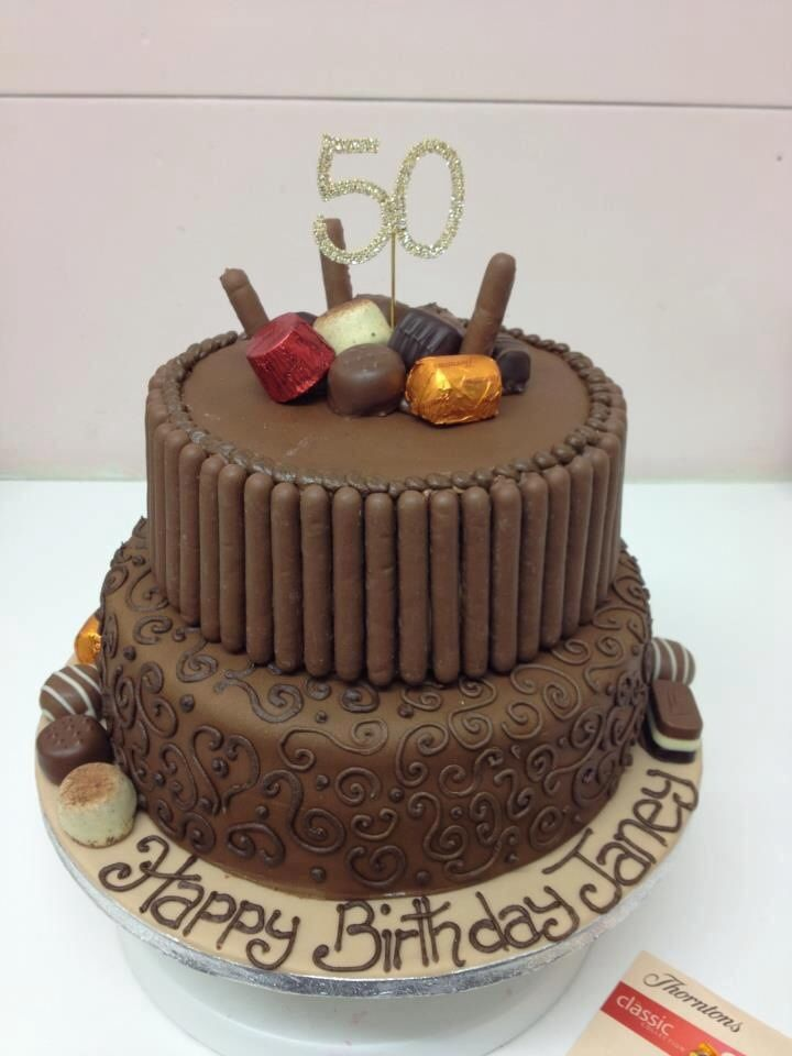 Thortons Inspired Chocolate Birthday Cake By Cakes A Daisy Uk