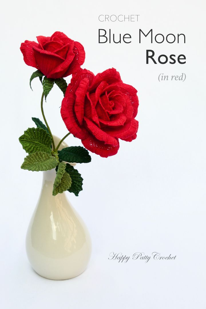 Blue moon rose pattern by happy patty crochet crochet flower blue moon rose ccuart Images