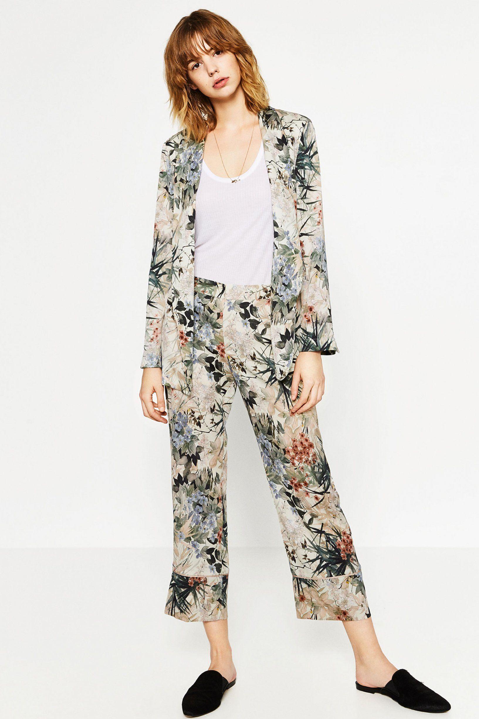 les mieux notés vraie qualité styles classiques Le pyjama de ville - fleuri chez Zara 50€ la veste, 40€ le ...