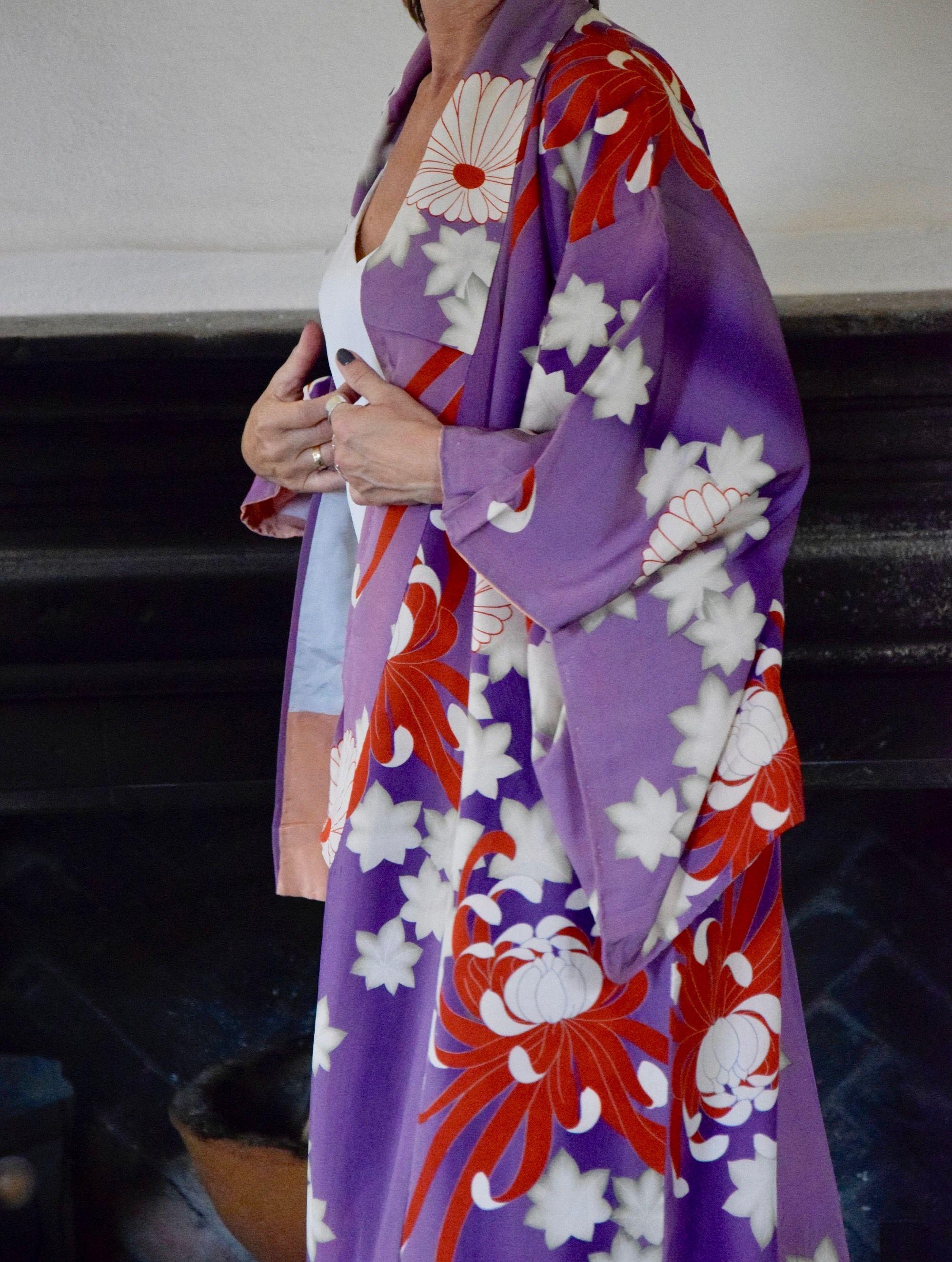 Japanisch Samue Damen Traditionell Arbeit Kimono Kleidung Satz Lila Von Japan