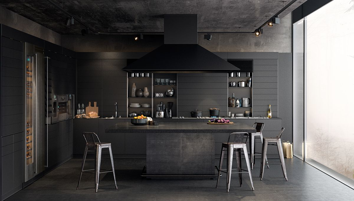 Types Of Luxury Dark Kitchen Designs Completed With Modern And Stylish Decorating Ideas Black Cabinets