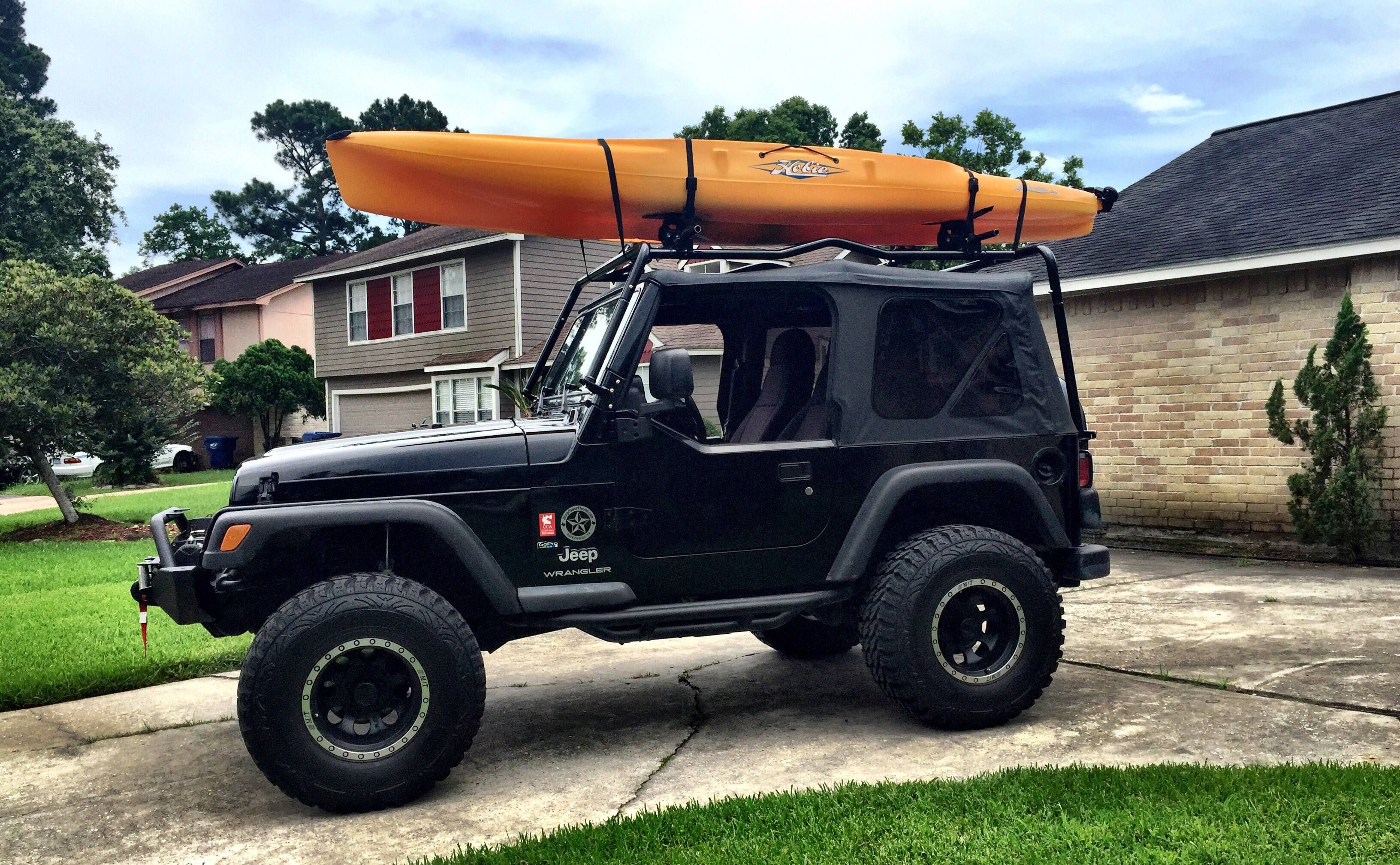 Got My New Cargo Rack To Carry The New Kayak On The 04 Tj Soft Top
