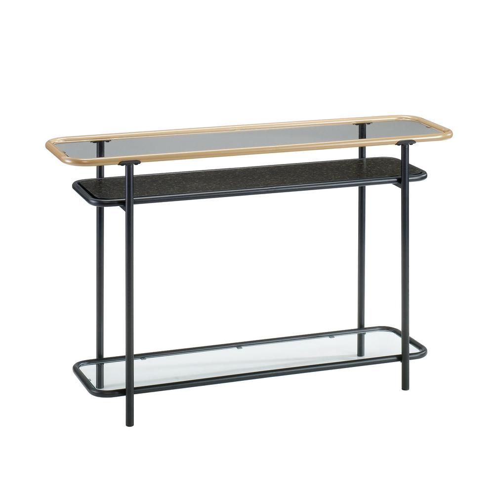 Fantastic Sauder Boulevard Cafe Black Glass Top Console Table In 2019 Gamerscity Chair Design For Home Gamerscityorg