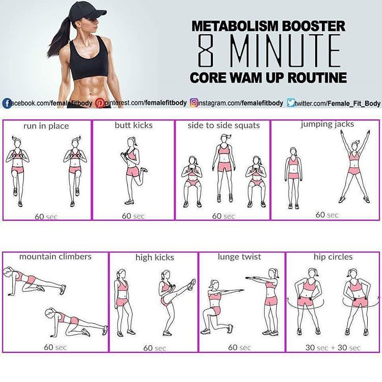 Weight loss warm up