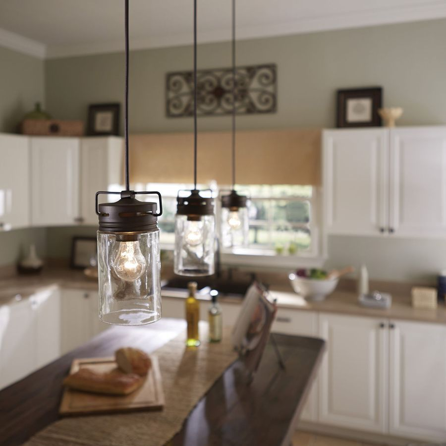 pendant light mason jar light pendant lighting kitchen island jar allen roth vallymede aged bronze country cottage mini clear pendant lights