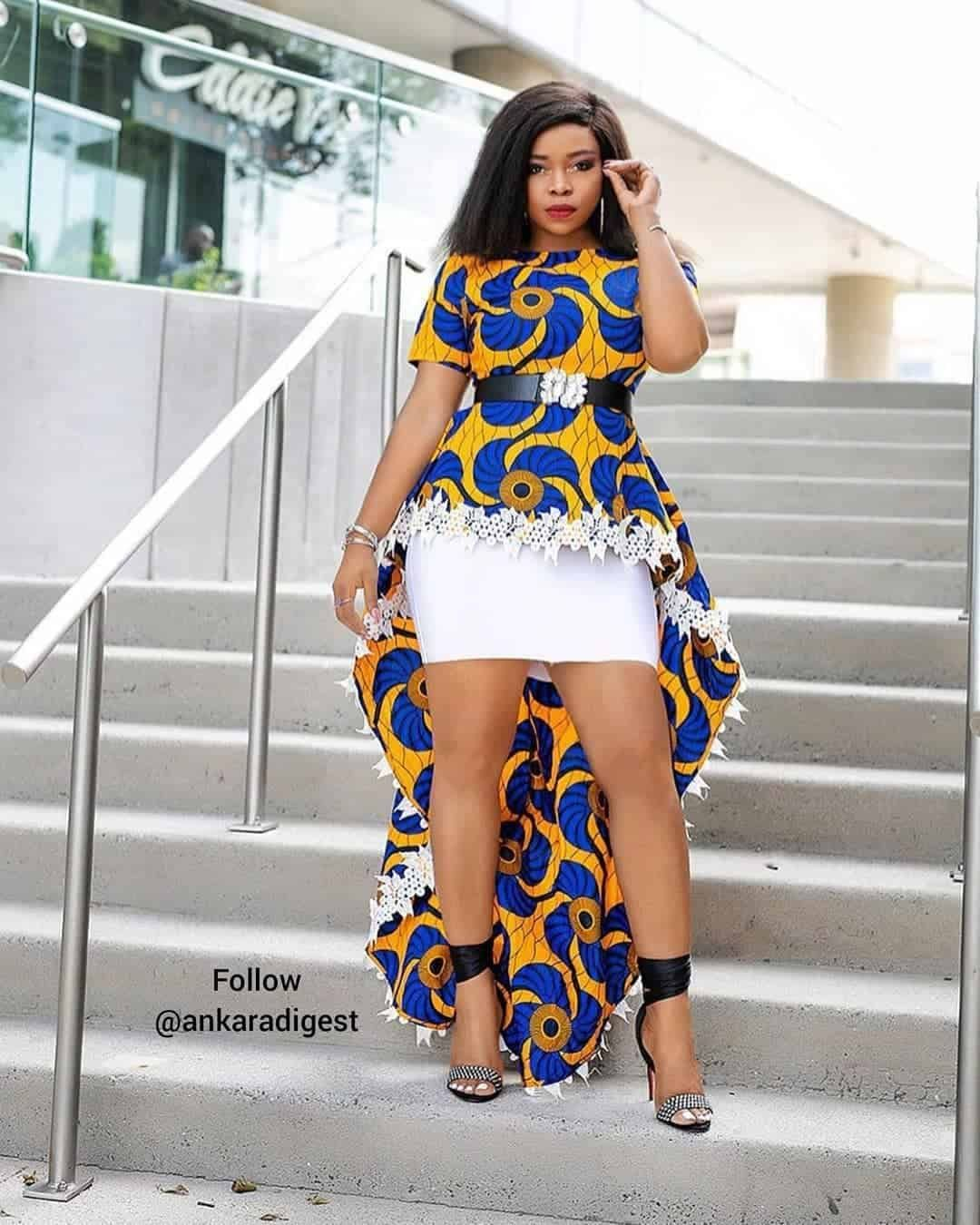 100 Latest Ankara Style Designs For 2020 (Updated) | ThriveNaija in 2020 |  African dresses for women, African print fashion dresses, African fashion