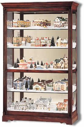 Sliding door large display cherry curio cabinet 680235 howard lowest price online on all howard miller townsend village display curio cabinet 680235 planetlyrics Choice Image