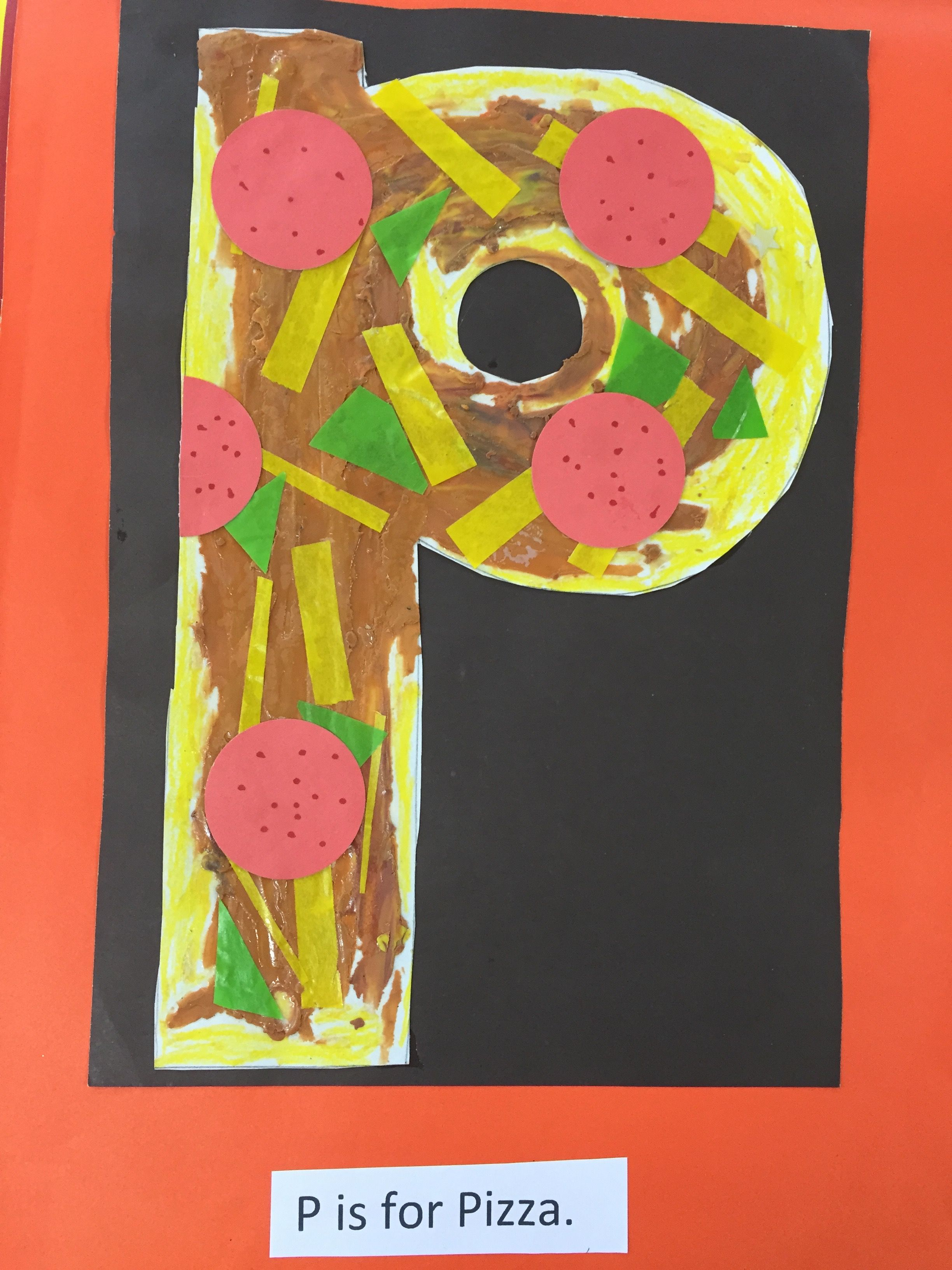 P Is For Pizza Art Fine Motor Craft Abc Fun Activity For