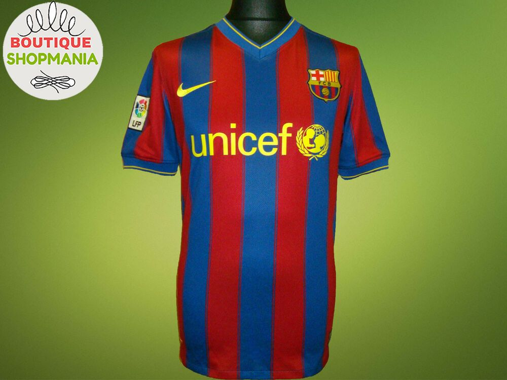 c7009a081b5 Details about BARCELONA SPAIN 2009 2010 HOME FOOTBALL SHIRT JERSEY ...