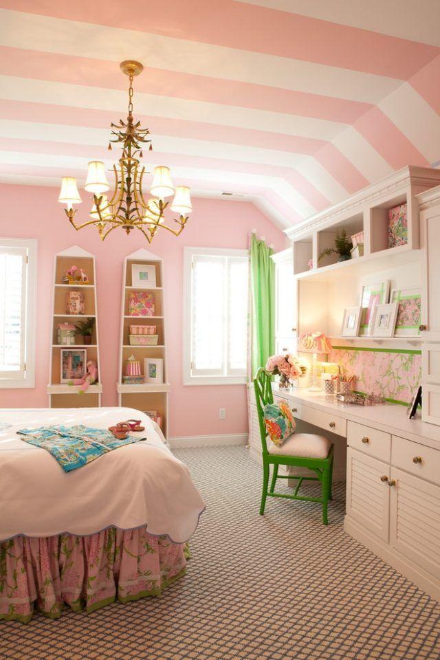 Kinderzimmer gestalten Кreative und farbenfrohe Decke
