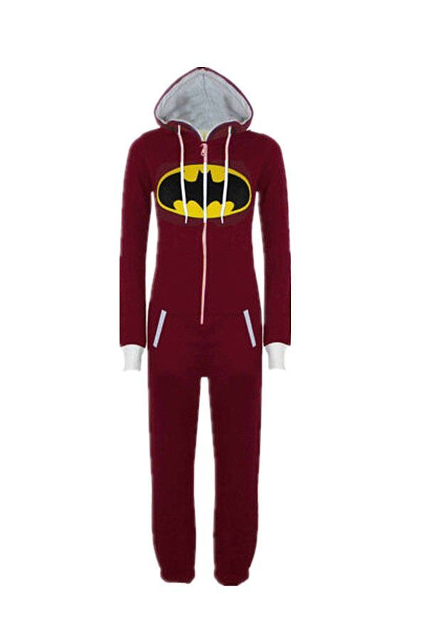 New Unisex Pyjamas Superhero Adult Onesies Mens Women Batman Superman One  Piece Cotton Pajamas Sleepwear Onesies For Adults 614c6b54e