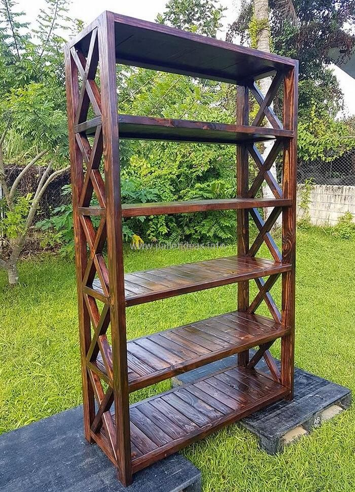 wooden pallets heavy duty bookshelf - Heavy Duty Bookshelves