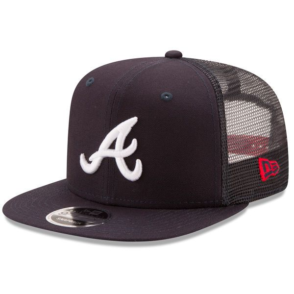 big sale 13d8d 3ffa5 ... promo code for atlanta braves new era trucker patched 9fifty snapback  adjustable hat navy 4a046 2bb0e