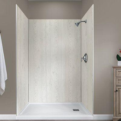 Hazelwood Home Jetcoat 78 X 48 X 34 Five Panel Shower Wall
