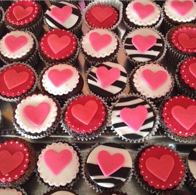 Cupcakes corazon, fiesta natalia