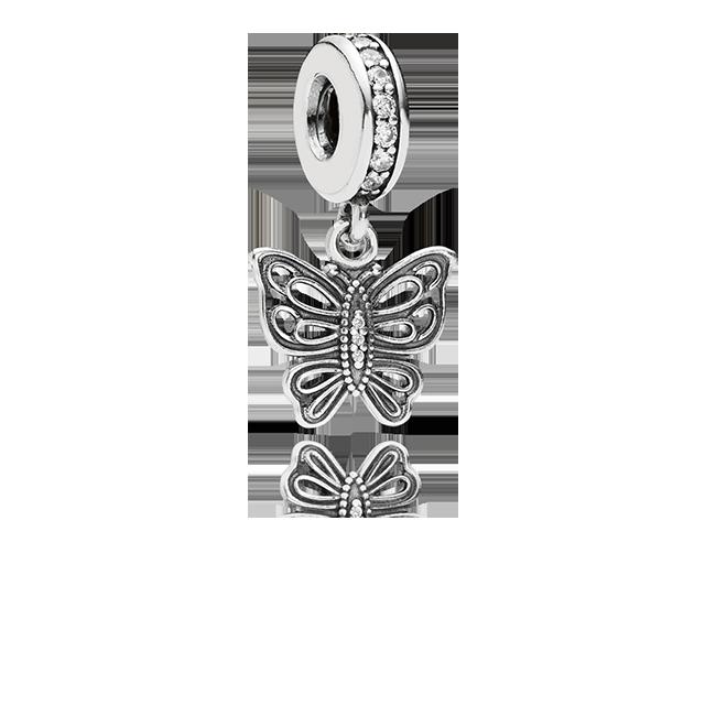 charm pandora farfalla pendente