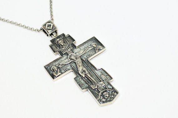 PE000428 Sterling silver pendant solid 925 cross