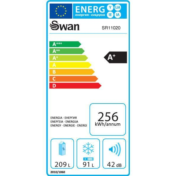 Swan Retro Fridge Freezer #energyefficiency