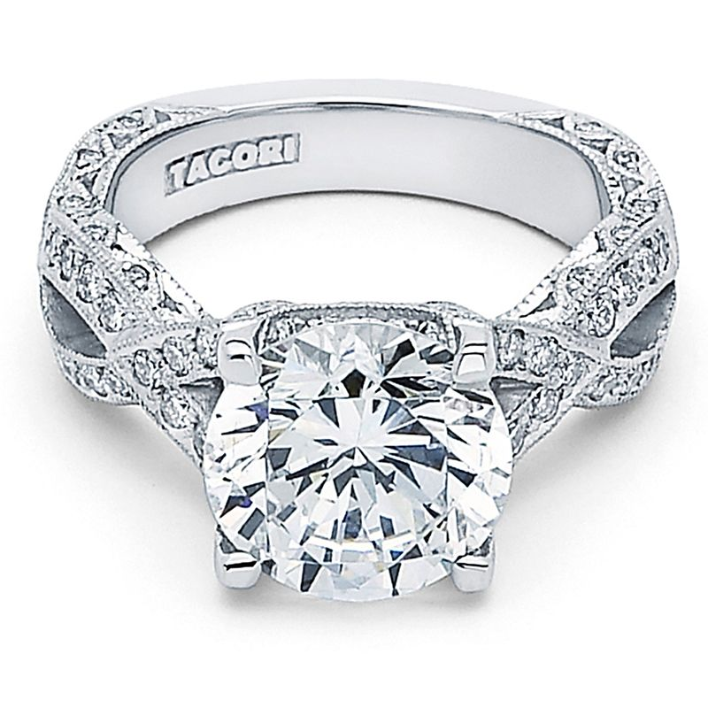 tacori royalt platinum twist diamond ring for the one who loves twists and curves - Tacori Wedding Rings