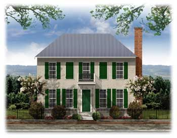 Westover French Colonial Historic Colonial House Plans Colonial House House Plans