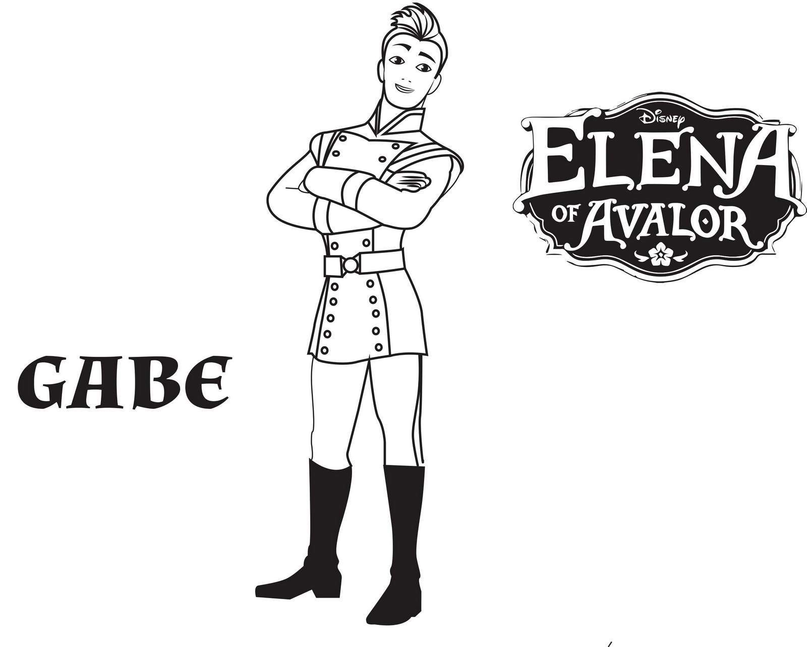 Coloring Pages Of Princess : Gabe from elena of avalor coloring pages disney coloring
