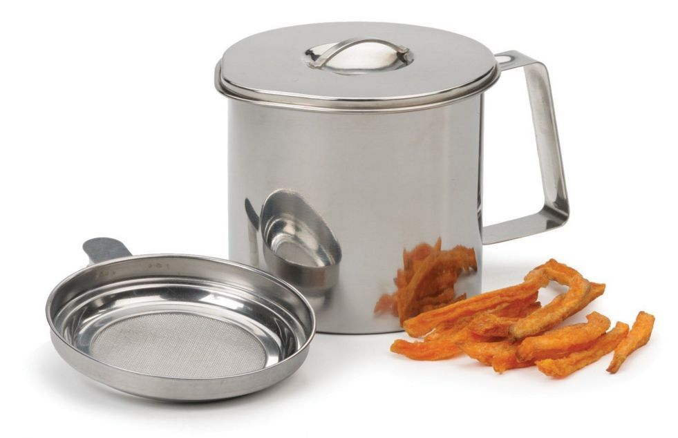 Rsvp Stainless Steel 4 Cup Grease Keeper Saver Fryer S Friend Oil