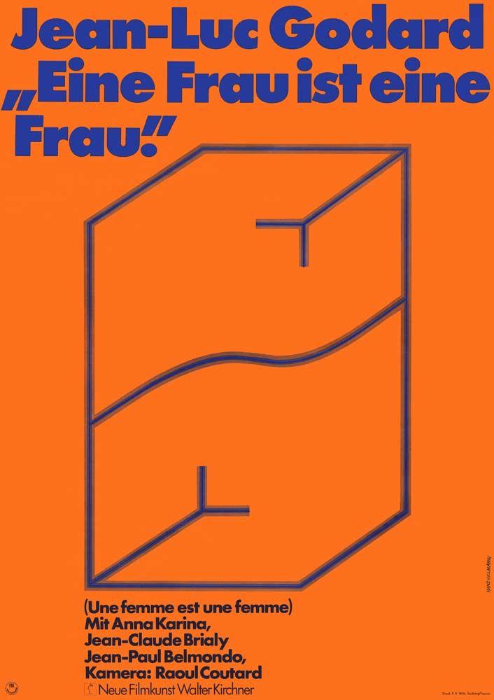 poster / Eine Frau ist eine Frau (Une Femme est une Femme), Poster by Hans Hillmann 1970