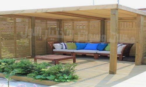 تركيب #مظلات خشبية رائعة مع جدران الخشب لاستراحات الحدائق مؤسسة - frais annexes construction maison3