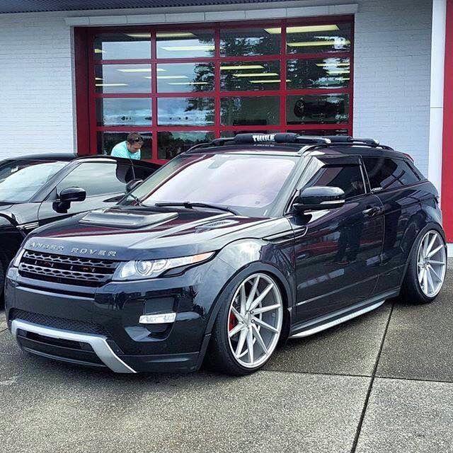 #Range_Rover #Evoque #Slammed On #Vossen_Wheels