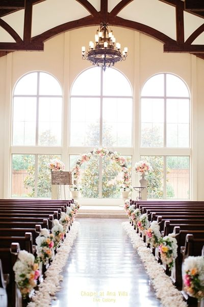 Chapel At Ana Villa The Colony Tx Church Ceremony Decor Wedding Decorations