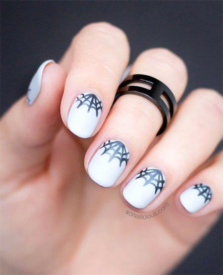 Spider Web Nail Art Lovely 12 Halloween Spider Web Nail ...