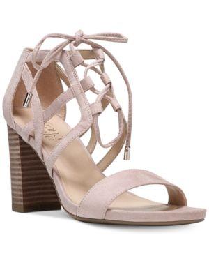053058cc814a Franco Sarto Jewel Lace-Up Block-Heel Sandals - Pink 8.5M