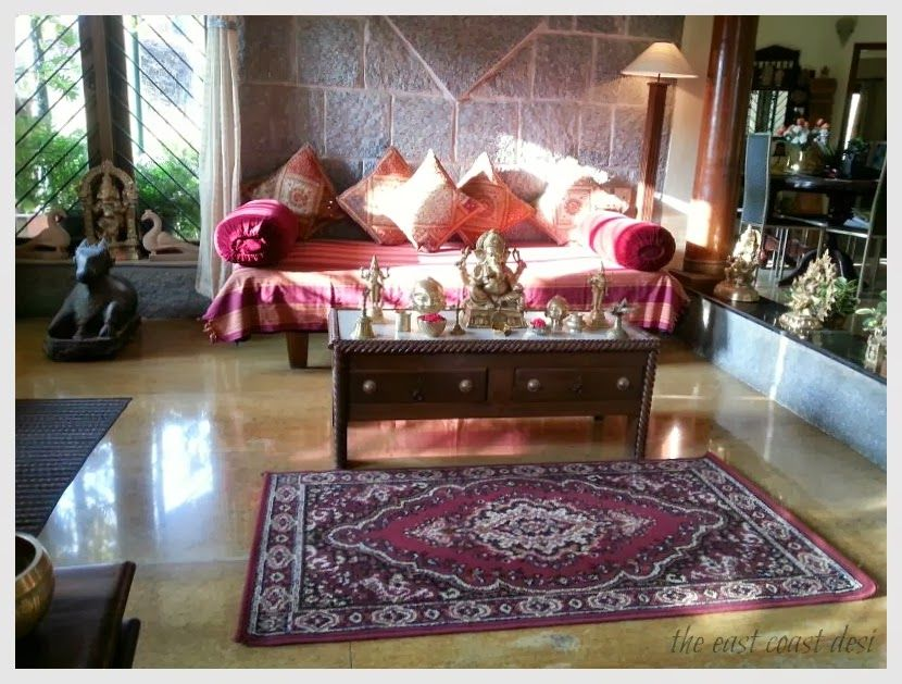 Diwan style seating  - indian style living room