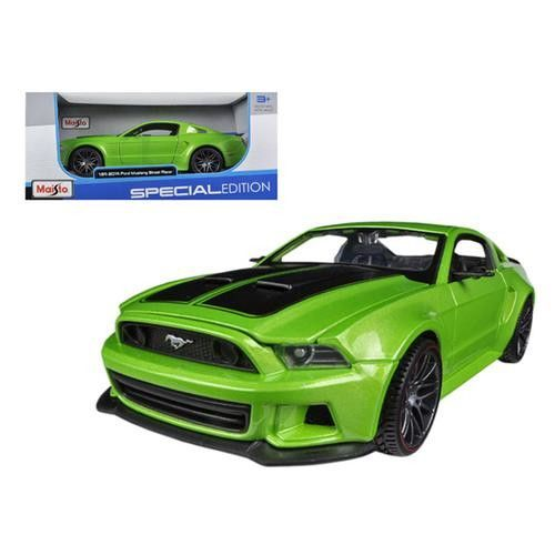 2014 Ford Mustang Street Racer Metallic Light Green 1/24 Diecast Model Car by Maisto