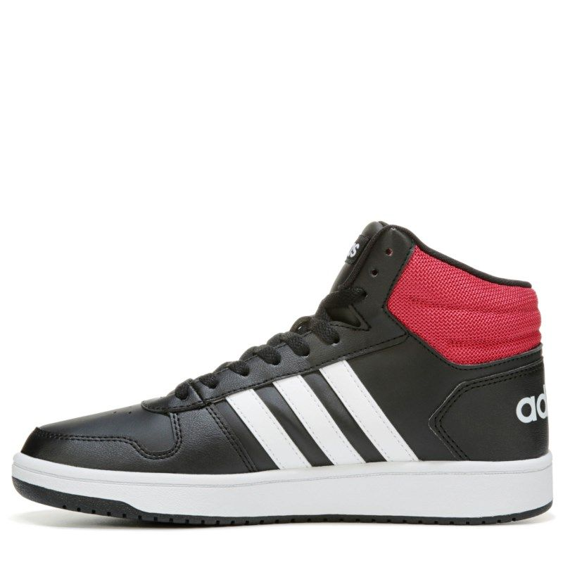 e9efe5b16a9b Adidas Men s VS Hoops 2.0 High Top Sneakers (Black Red)