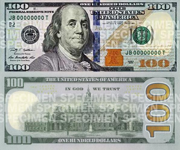 New U S Currency Us Dollar