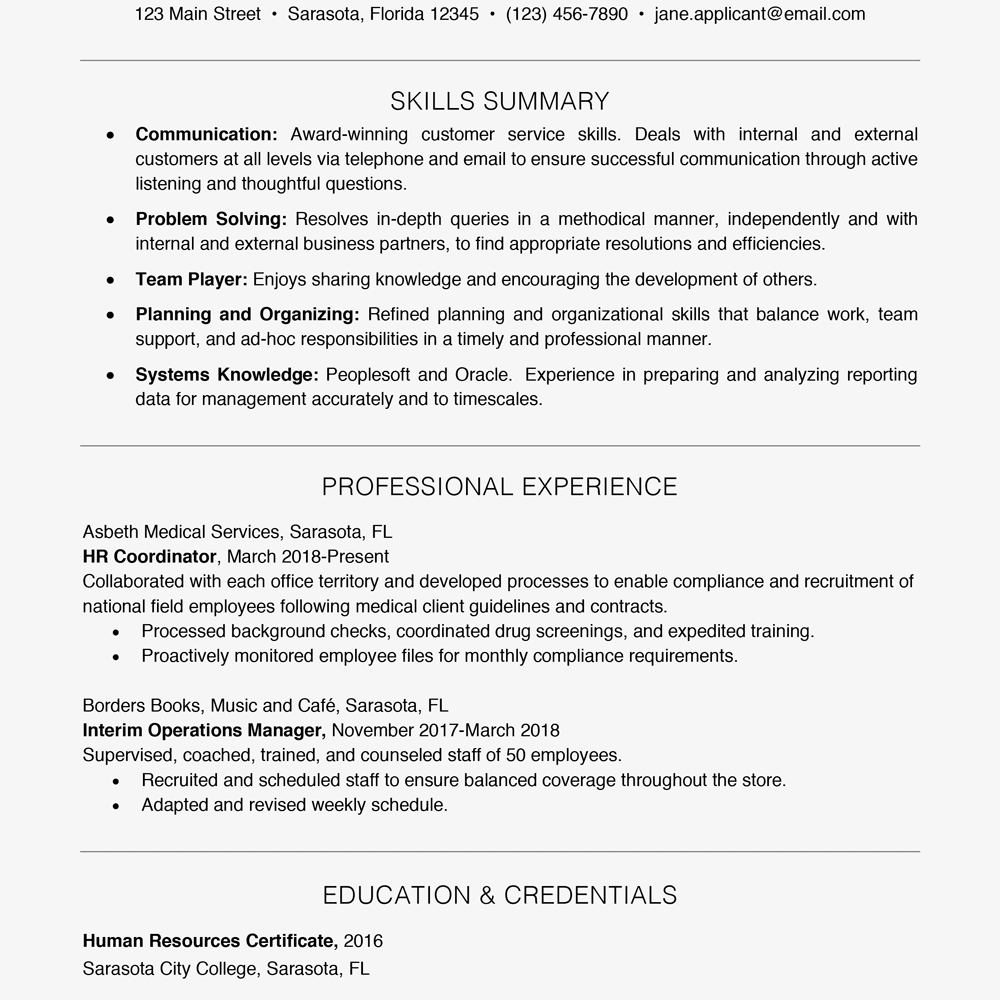 Skills On A Resume Examples Resumeexamples Resume Skills Resume Skills Section Resume Examples