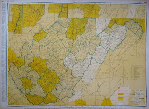 HD Decor Images » Rare Size WEST VIRGINIA Map of West Virginia w by plaindealing     Rare Size WEST VIRGINIA Map of West Virginia w by plaindealing