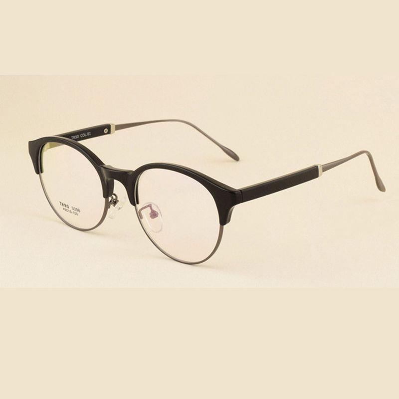 4df24d73408 Retro Semi-rimless Glasses Frame Brand Designer Vintage Fullrim Cat Eye  Glasses Frame Men Myopia Frames Women Eyewear Oculos  Affiliate