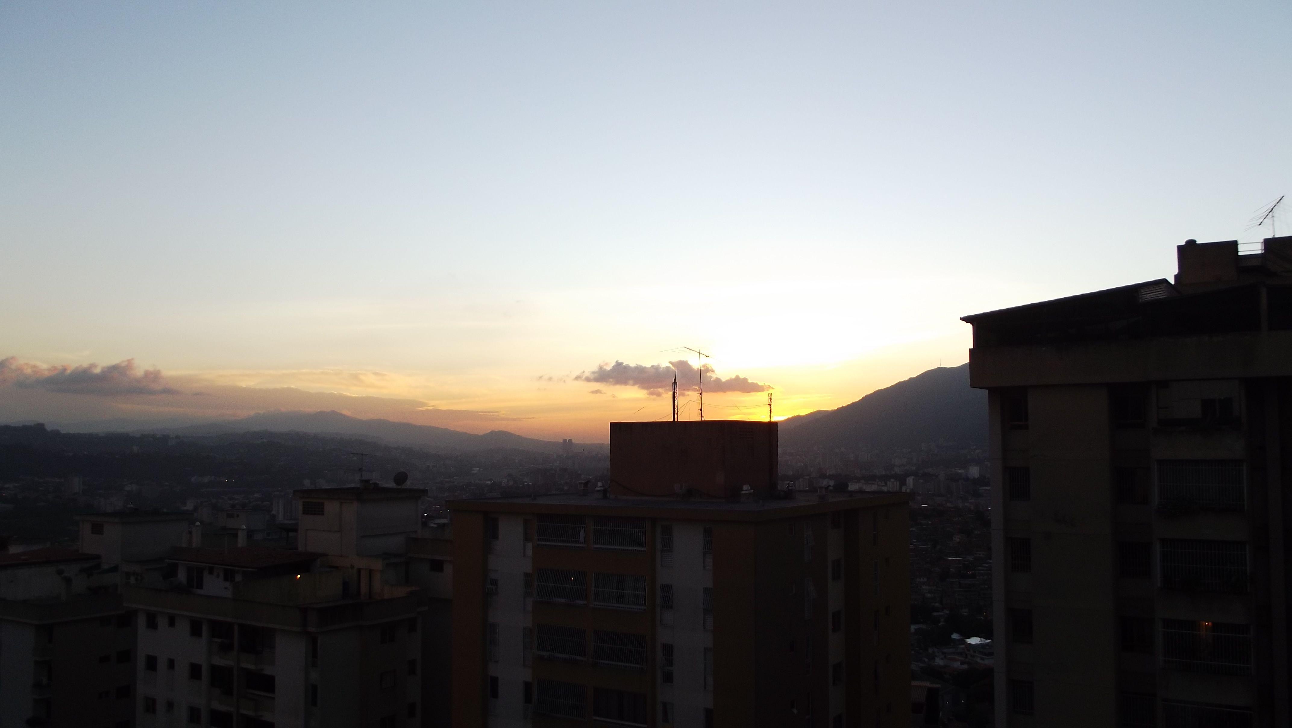 Sun set in Caracas Venezuela