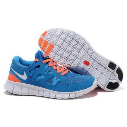 Nike Free Run wholesale 2 Mega Blue White Bright Mango outlet Womens Shoes
