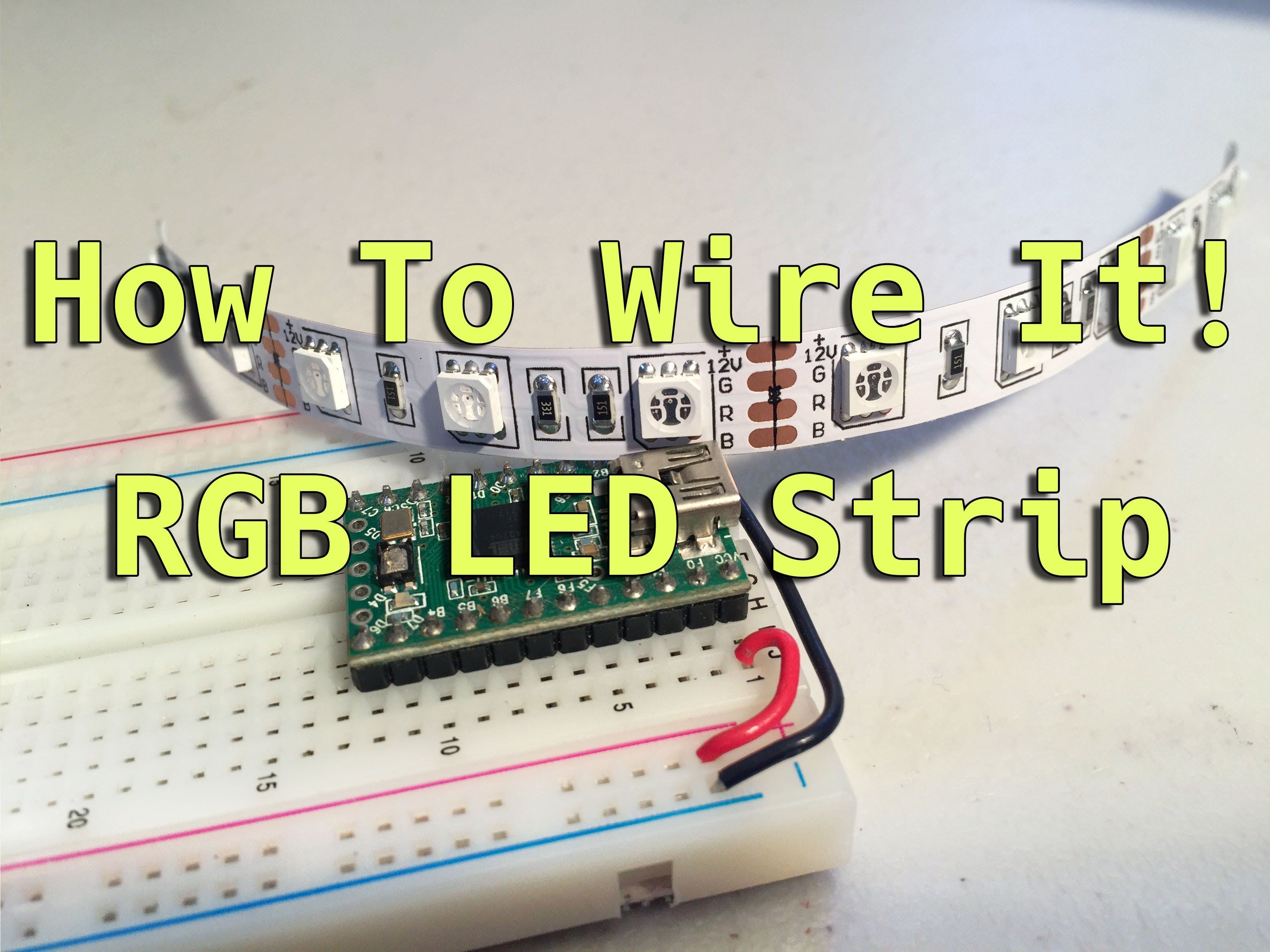 How To Wire It Rgb Led Strip Arduino Picture Of Circuit With