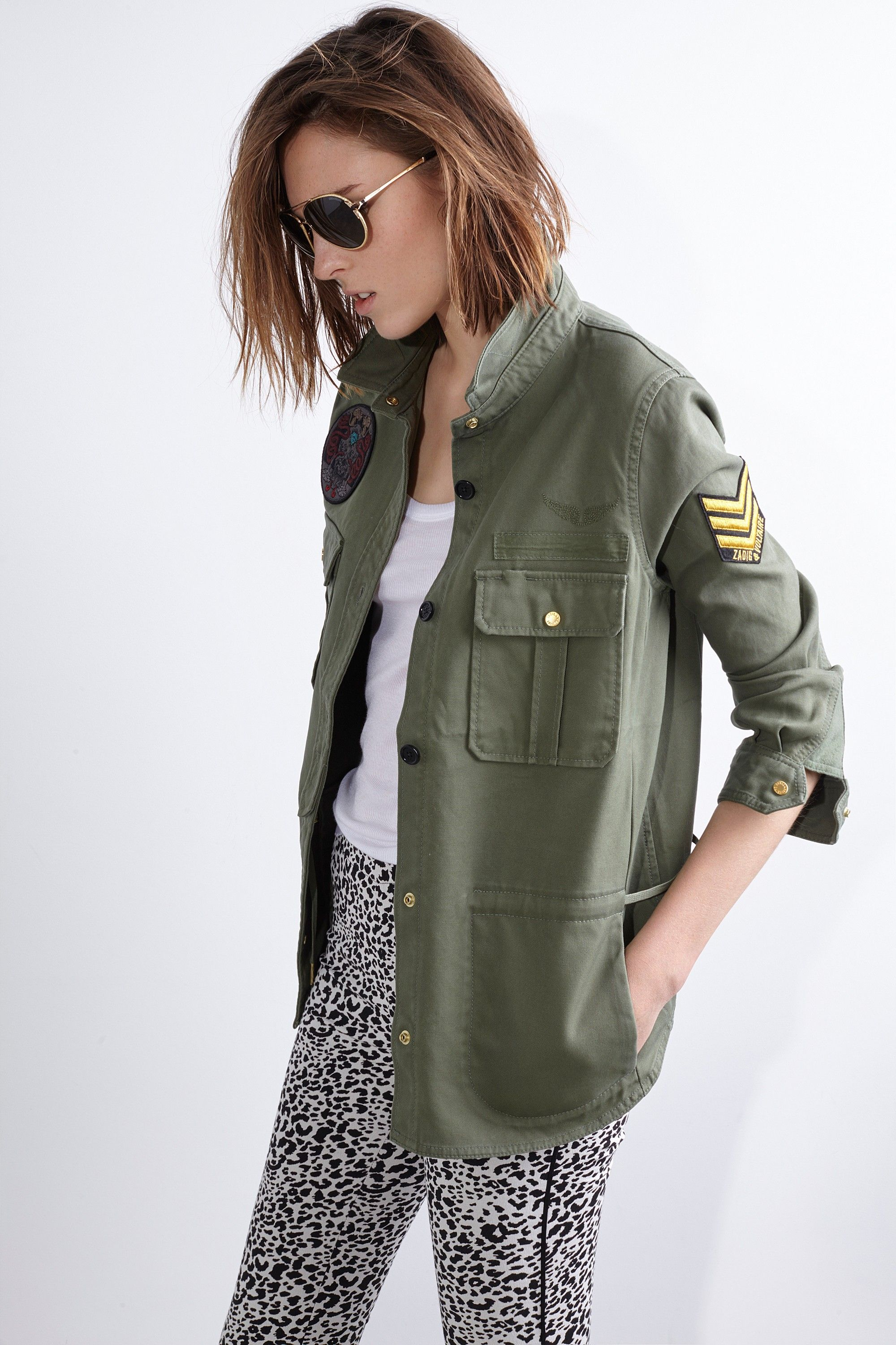 Souvent Tackl Army Overshirt, khaki, Zadig & Voltaire | Autumn look book  UF54